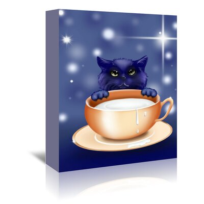 Americanflat Wonderful Dream Fantasy Kitten Graphic Art Wrapped on Canvas