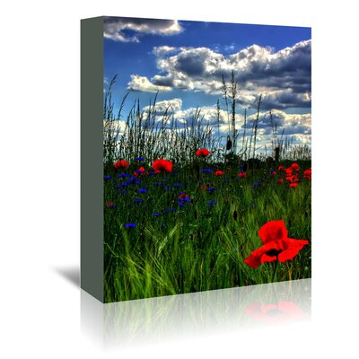 Americanflat Wonderful Dream Colourful Landscape with Tulip Photographic Print Wrapped on Canvas