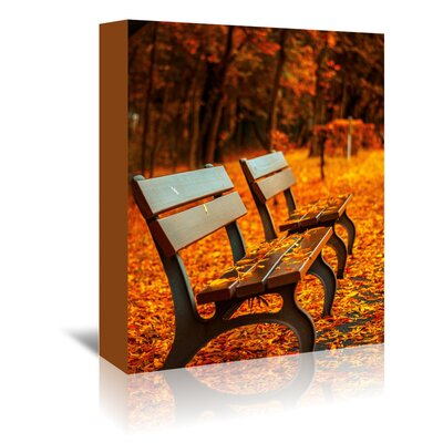 Americanflat Wonderful Dream Autumn with Bank Landscape Photographic Print Wrapped on Canvas