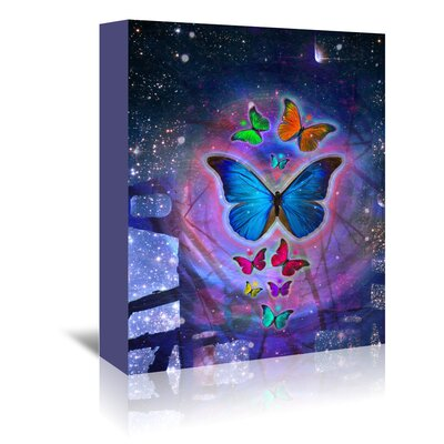 Americanflat Wonderful Dream Fantasy Butterfly Insect Graphic Art Wrapped on Canvas
