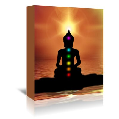 Americanflat Wonderful Dream Buddha with Sunset Graphic Art Wrapped on Canvas