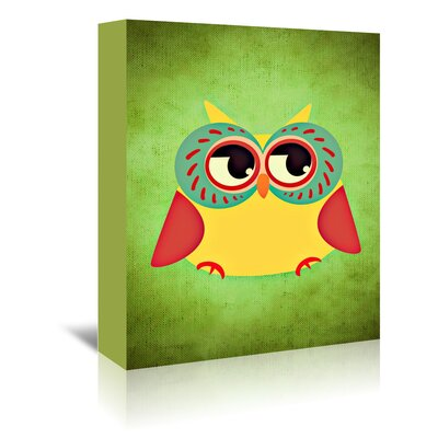 Americanflat Wonderful Dream Abstract Owl Modern Graphic Art Wrapped on Canvas