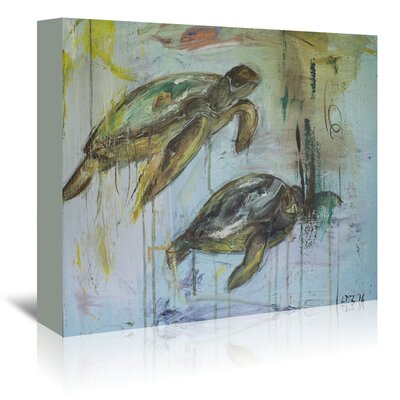 Americanflat 'Two Turtles' by Laura D Zajac Art Print Wrapped on Canvas