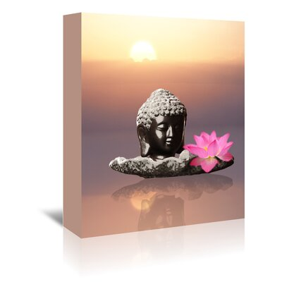 Americanflat Wonderful Dream Buddha with Lotus Flower Graphic Art Wrapped on Canvas