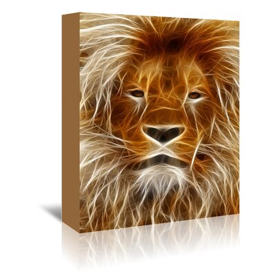 Americanflat Wonderful Dream Abstract Lion Cat Animal Graphic Art Wrapped on Canvas