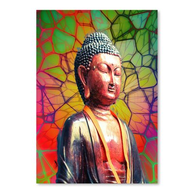 Americanflat Wonderful Dream Buddha with Mosaic Background Photographic Print