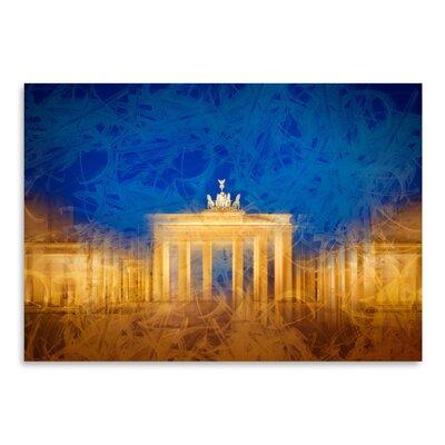 Americanflat 'Modern Art Berlin Brandenburg Gate' by Melanie Viola Graphic Art