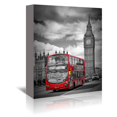 Americanflat 'London Westminster Bridge Traffic' by Melanie Viola Photographic Print Wrapped on Canvas