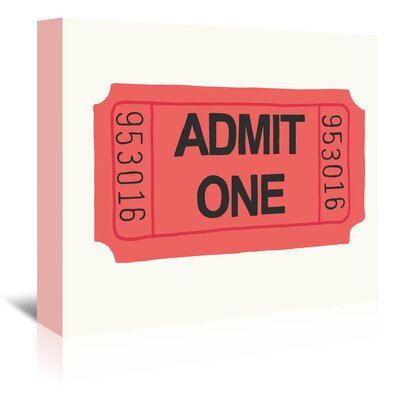 Americanflat 'Ticket' by Jorey Hurley Typography Wrapped on Canvas