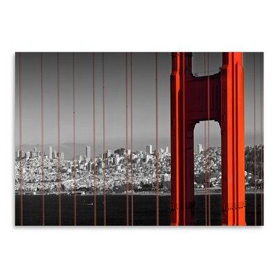 Americanflat 'Golden Gate Bridge Panoramic View' by Melanie Viola Photographic Print
