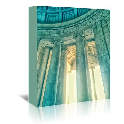 Americanflat 'Jefferson Memorial 17' by Golie Miamee Photographic Print Wrapped on Canvas