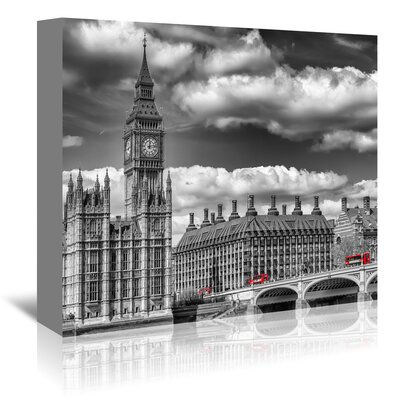 Americanflat 'London Big Ben and Red Bus' by Melanie Viola Photographic Print Wrapped on Canvas