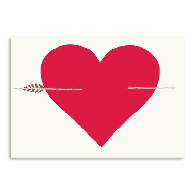 Americanflat 'Heart with Arrow' by Jorey Hurley Art Print