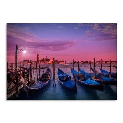 Americanflat 'Venice Gondolas at Sunset' by Melanie Viola Photographic Print