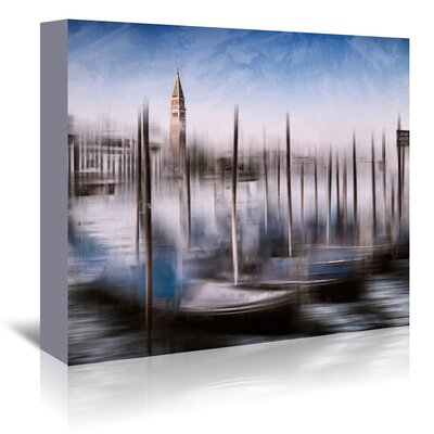 Americanflat 'City Art Venice Gondolas and Grand Canal' by Melanie Viola Graphic Art Wrapped on Canvas
