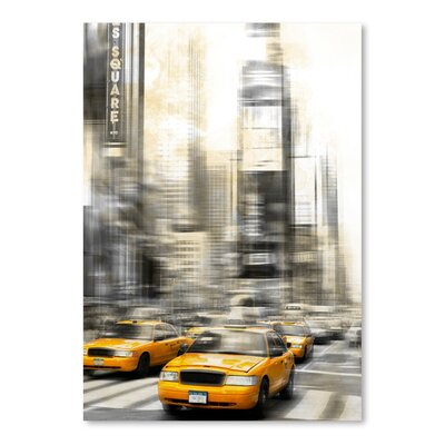 Americanflat 'City Art Times Square Yellow Cabs' by Melanie Viola Graphic Art