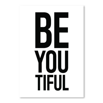 Americanflat 'Beyoutiful' by Pop Monica Typography
