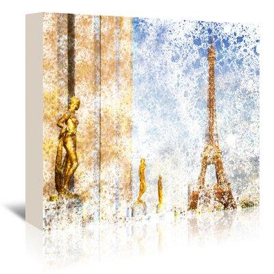 Americanflat 'City Art Paris Eiffel Tower II' by Melanie Viola Graphic Art Wrapped on Canvas