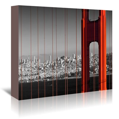 Americanflat Golden Gate Bridge Panoramic View' by Melanie Viola Photographic Print Wrapped on Canvas