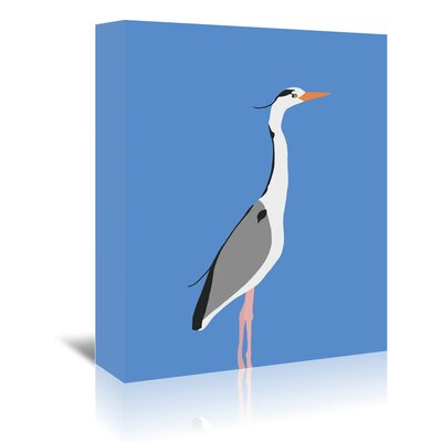 Americanflat Heron' by Jorey Hurley Art Print Wrapped on Canvas