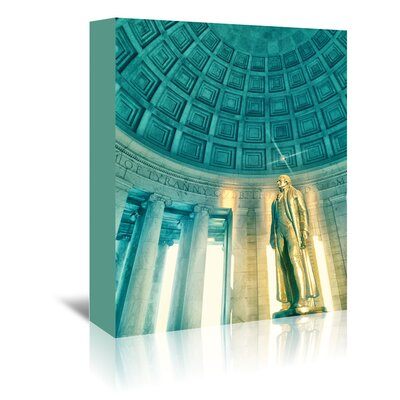 Americanflat 'Jefferson Memorial 2' by Golie Miamee Photographic Print Wrapped on Canvas