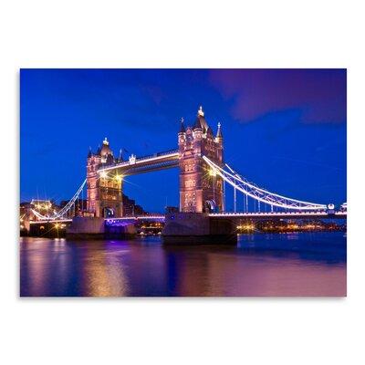 Americanflat 'London Tower Bridge at Blue Hour' by Melanie Viola Photographic Print