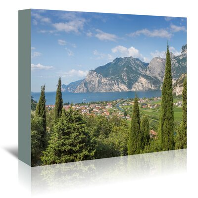 Americanflat 'Lake Garda Panoramic View' by Melanie Viola Photographic Print Wrapped on Canvas