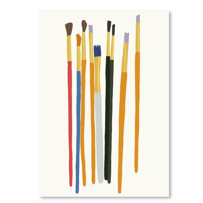 Americanflat Brushes' by Jorey Hurley Art Print