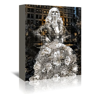 Americanflat 'Nyc White Dress' by Golie Miamee Graphic Art Wrapped on Canvas