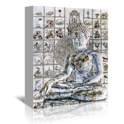Americanflat Meditation Wall' by Golie Miamee Graphic Art Wrapped on Canvas