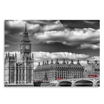 Americanflat 'London Big Ben & Red Bus' by Melanie Viola Photographic Print