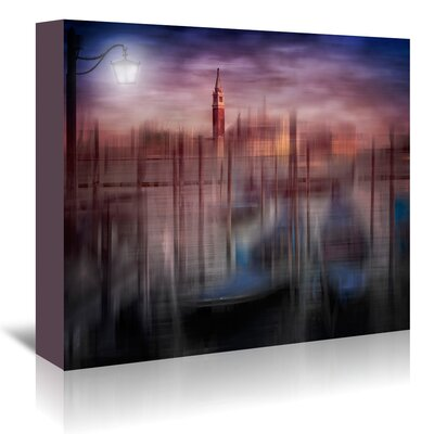 Americanflat 'City Art Venice Gondolas at Sunset' by Melanie Viola Graphic Art Wrapped on Canvas