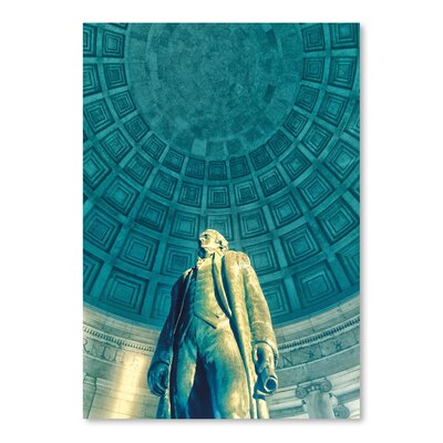 Americanflat 'Jefferson Memorial 6' by Golie Miamee Photographic Print
