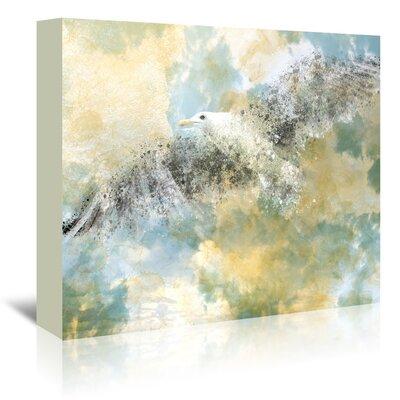 Americanflat 'Digital Art Vanishing Seagull' by Melanie Viola Graphic Art Wrapped on Canvas