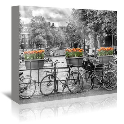 Americanflat 'Typical Amsterdam - Panoramic View' by Melanie Viola Photographic Print Wrapped on Canvas