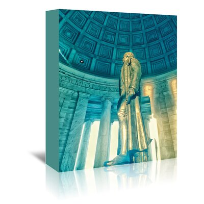 Americanflat 'Jefferson Memorial 3' by Golie Miamee Photographic Print Wrapped on Canvas