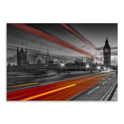 Americanflat London Westminster Bridge & Red Bus' by Melanie Viola Photographic Print