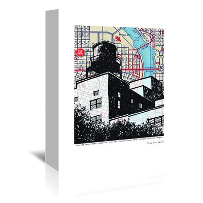 Americanflat 'Water Tower Portland' by Lyn Nance Sasser and Stephen Sasser Graphic Art Wrapped on Canvas