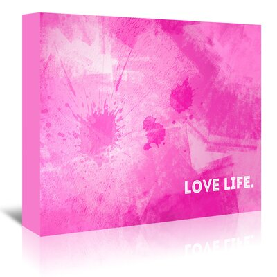 Americanflat 'Emotional Art Love Life' by Melanie Viola Graphic Art Wrapped on Canvas