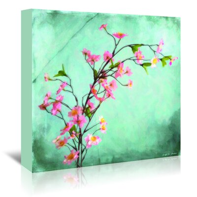 Americanflat 'Cherry Blossoms Painted on Aqua' by Graffi Tee Studios Art Print Wrapped on Canvas