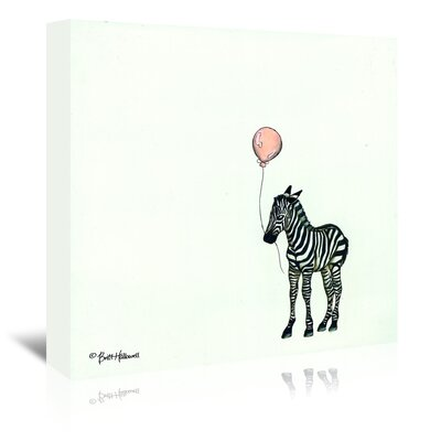 Americanflat 'Nursery Zebra' by Britt Hallowell Graphic Art Wrapped on Canvas
