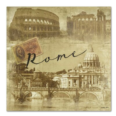 Americanflat 'Rome Vintage' by Graffi Tee Studios Graphic Art