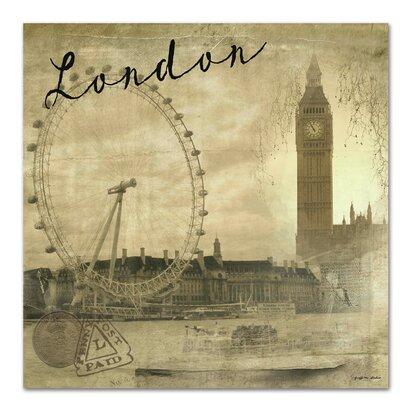 Americanflat London Vintage' by Graffi Tee Studios Graphic Art