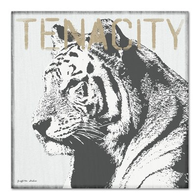 Americanflat 'Tenacity Tiger' by Graffi Tee Studios Graphic Art