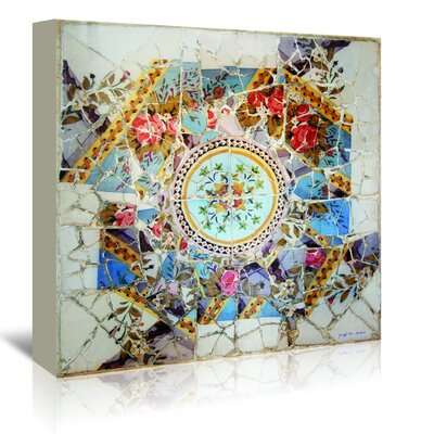 Americanflat 'Gaudi Mosaic Center Circle I' by Graffi Tee Studios Graphic Art Wrapped on Canvas