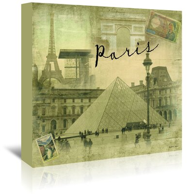 Americanflat Paris Vintage' by Graffi Tee Studios Graphic Art Wrapped on Canvas