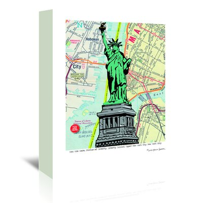 Americanflat 'Statue of Liberty Nyc' by Lyn Nance Sasser Graphic Art Wrapped on Canvas