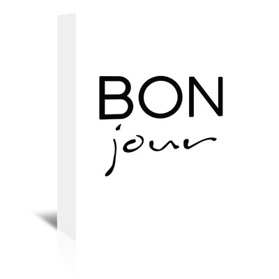 Americanflat 'Bon Jour' by Pop Monica Typography Wrapped on Canvas