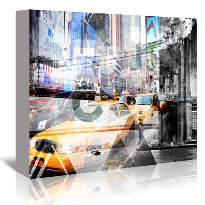 Americanflat 'New York City - Geometric Mix No. 9' by Melanie Viola Graphic Art Wrapped on Canvas