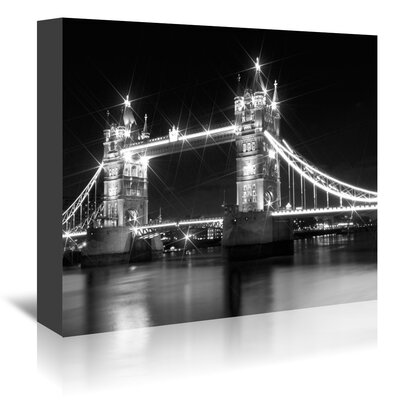 Americanflat 'London Tower Bridge - Monochrome' by Melanie Viola Photographic Print Wrapped on Canvas